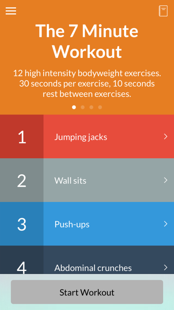 Priority Health_Technology_Health App_7 Minute Workout