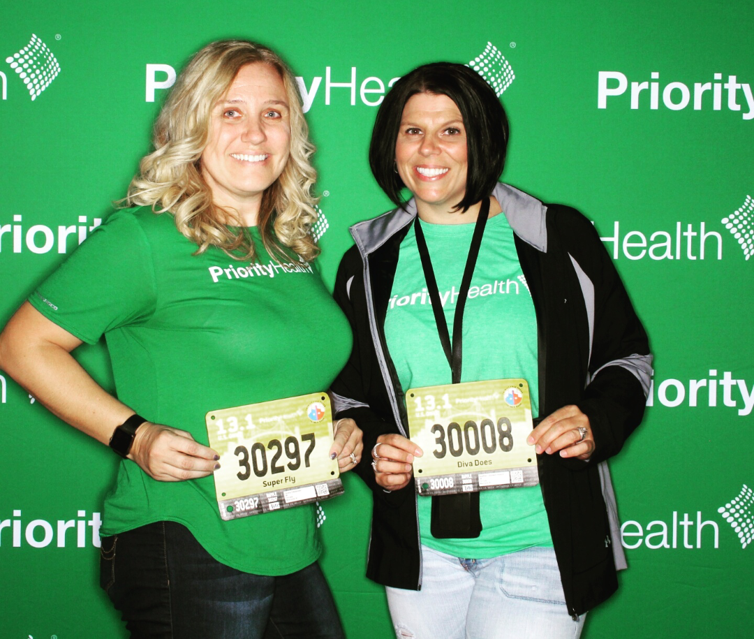 priority health personal wellness champion spotlight dayna and heather