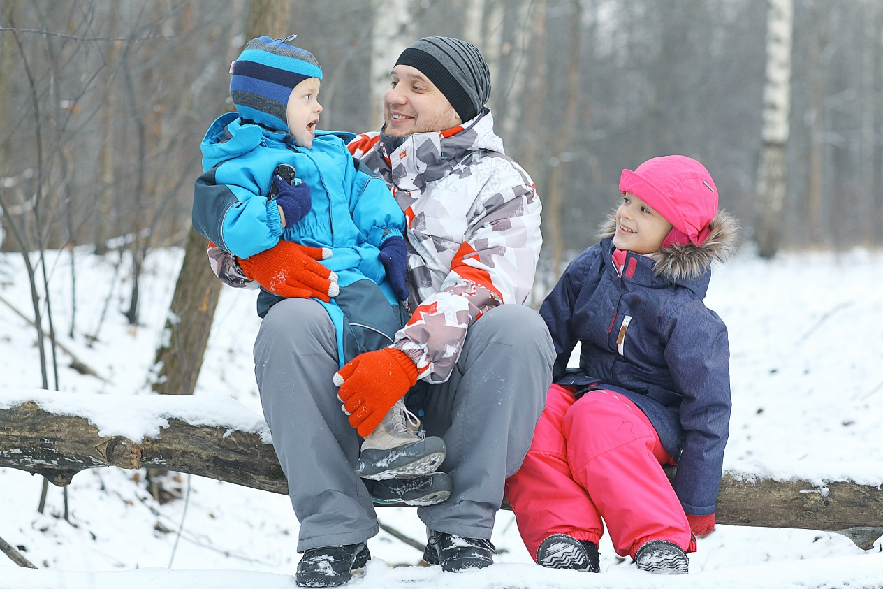 Priority Health Personal Wellness Dress For Winter Family in Woods
