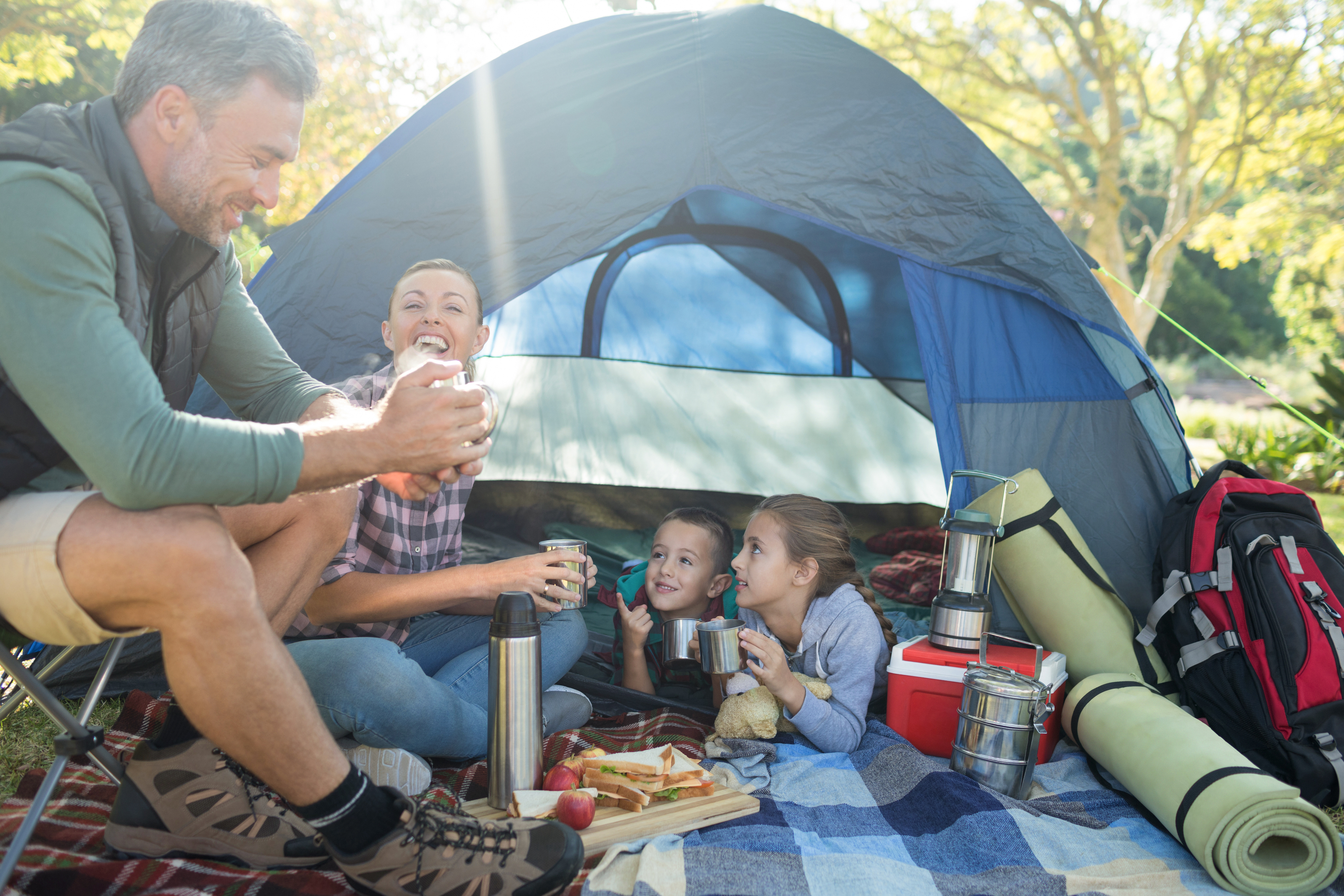 priority health personal wellness camping meals family eating together