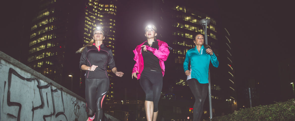 Running with Reflectors: Be seen. Be safe.