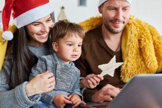 Thinkhealth personal wellness family celebrating holiday virtually